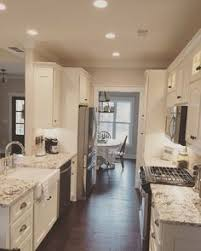 galley kitchen with island layout kitchen wall open into dining room design ideas pictures remodel