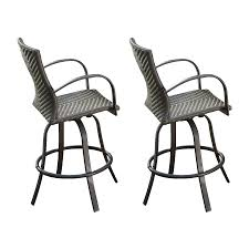 Outdoor Bar Height Swivel Chairs Bar Stools Portable Outdoor Bar Outdoor Wicker Bar Stools With