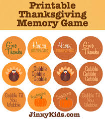 free printable thanksgiving memory jinxy
