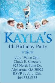 personalized party invites news frozen personalized birthday