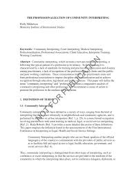 the professionalization of community interpreting pdf download