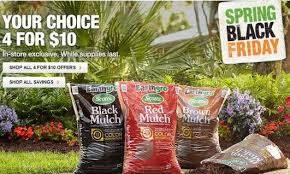 home depot black friday march home depot spring black friday scotts earthgro mulch 4 10