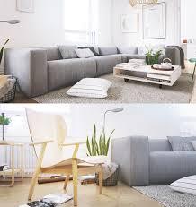 living room minimalist scandinavian living room features grey