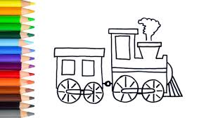 learn how to draw easy train teach drawing for kids toddlers