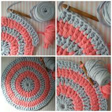 Crochet Tshirt Rug Pattern Tutorial How To Make A Carpet With Trapillo My World Of Wool