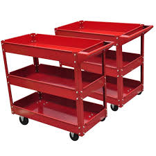 3 shelf workshop garage utility tray diy tool storage trolley