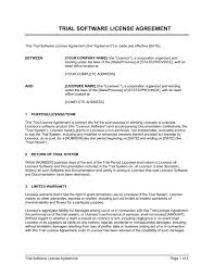 licensing requirements document templates