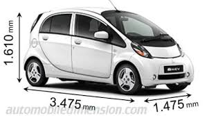 Mitsubishi I Interior Dimensions Of Mitsubishi Motors Cars Showing Length Width And Height