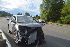 wrecked subaru outback 5 hurt in head on crash east of sequim peninsula daily news