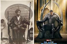 Black Panther In Black Panther Wakanda S Throne References Real World