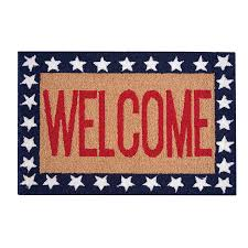 Red White And Blue Rugs Welcome Patriotic Red White U0026 Blue Acrylic Rug 22