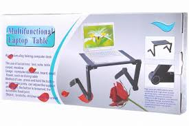Lap Desk With Fan 360 Degree Rotation Multifunctional Laptop Table Adjustable