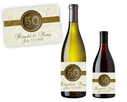anniversary wine bottles 50th anniversary party favors gold 50th wedding anniversary wine