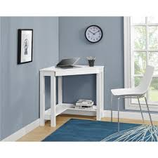 Computer Desk In White by Ameriwood Parsons Corner Desk In White 9896396com The Home Depot