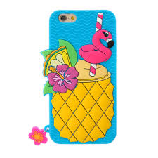 cocktail cartoon blue summer pineapple cocktail iphone case claire u0027s us