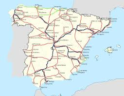 Spain Train Map by Atlantic Axis High Speed Rail Line Wikipedia