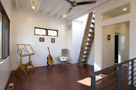 attic access ladder entry contemporary with built in storage