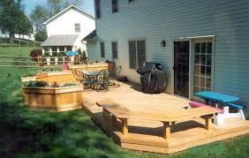 Deck Ideas For Small Backyards Decks For Small Backyards Designs