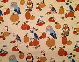 thanksgiving fabric etsy