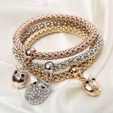 crystal gold bracelet images 3 crystal gold owl bracelet jpg