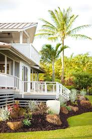 Boulder Landscaping Ideas Boulder Landscaping Ideas Landscape Tropical With White Railing