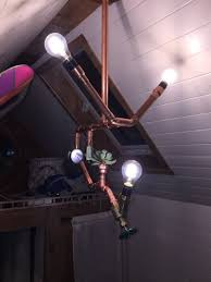 Tiny Lamp by Us Couple Makes Diy Copper Pipe Lamp For Their Tiny House