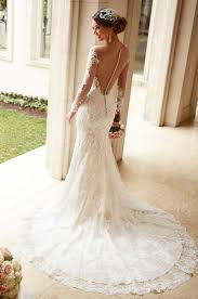 vintage lace top wedding dresses j191 see through top lace wedding dress vintage 2016