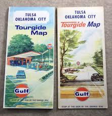 Tulsa Zip Code Map Vintage Map Tulsa Oklahoma Vintage Travel Map Gulf Oil