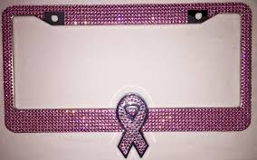 custom awareness ribbons breast cancer all awareness ribbons rhinestone license plate frame