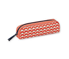mr and mrs clynck coated red orange pencil case mr u0026 mrs clynk
