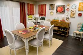 Decoration Tables Rectangle Cream Wooden Table Combined With Black Chairs Maroon