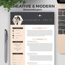 unique resume template professional resume template bundle cover letter references