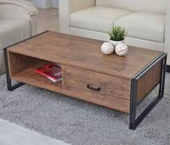 industrial coffee table with drawers industrial coffee table wood metal storage unit stylish living room
