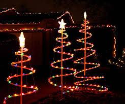 spiral christmas tree lighted christmas decor
