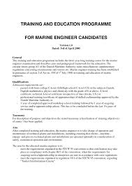 Resume Format Pdf For Experienced by Resume Format Marine Engineer
