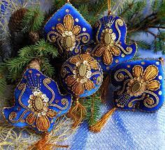 beautiful embroidered ornaments magic