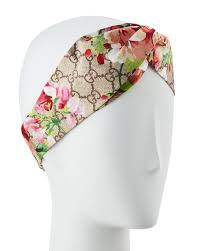 silk headband gucci gg blooms silk headband