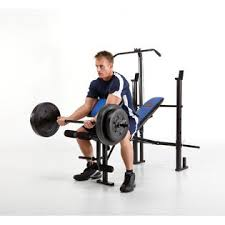 Marcy Standard Weight Bench Review Marcy Standard Bench W Lat Bar 120 Lb Weight Set Fitness