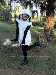 unique woman costume idea homemade sheep costume for under 20