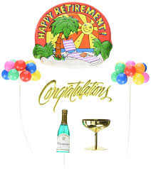 amazon com oasis supply happy retirement party cake topper