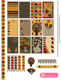 free printable thanksgiving planner stickers for happy planner and