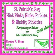 st s day hink pinks hinky pinkies hinkity pinkities