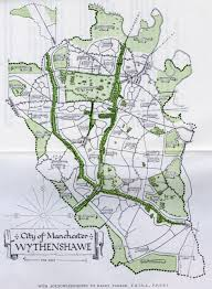 Map Of Manchester England by The Wythenshawe Estate Manchester U0027the World Of The Future