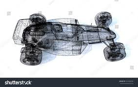 3d sketch formula 1 race car stock illustration 529498558
