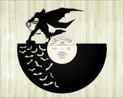 Batman Home Decor Batman Silhouette Vinyl Record Cutouts For Making Vinyl Record