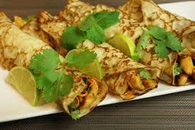 recette pancakes hervé cuisine crêpes thaï au lait de coco et poulet mariné au citron vert