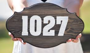 home decor address address sign address plaque rustic home decor personalized