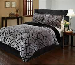 Velvet Comforters King Size Black Gray King Size 3 Piece Comforter Set Velvet Bedding What U0027s