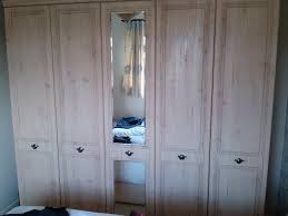 alston 5 door limed oak effect wardrobe