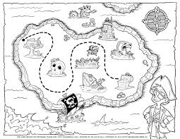 pirate treasure map coloring page coloring pages